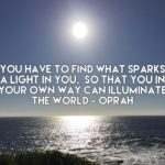 You have to find what sparks a light in you so that you in your own way can illuminate the world - Oprah Winfrey